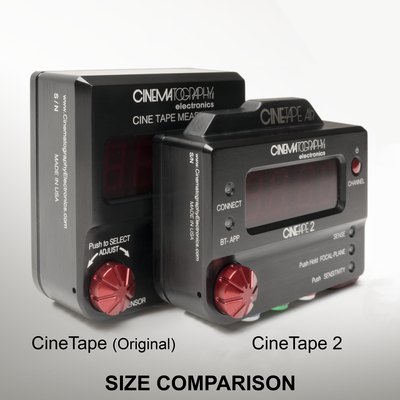 CineTape 2 next to CineTape Measure